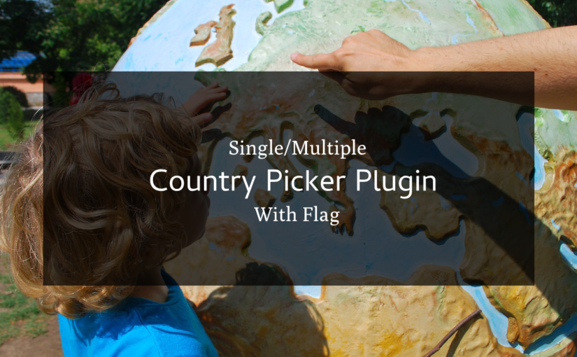 Country Picker With Flag jQuery plugin